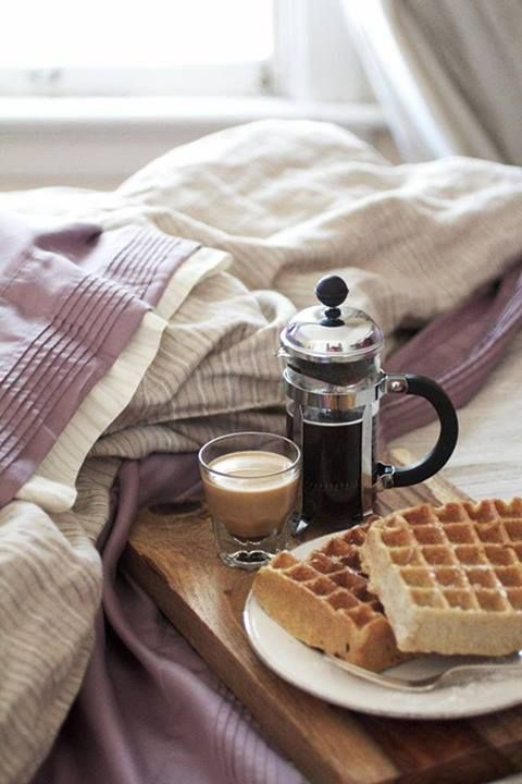 Waffles and coffee, so much better in morning spend in bed