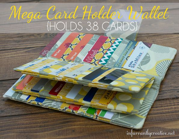Sewing tutorial for a mega card wallet --- perfect for credit cards, gift cards, rewards cards, business cards!