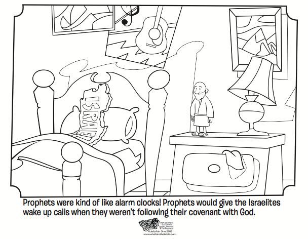 Kids coloring page from What's in the Bible? showing how