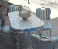 Retro Chrome Dinette Set in Blue
