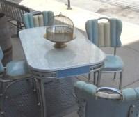 Retro Chrome Dinette Set in Blue | Mid Century Modern ...