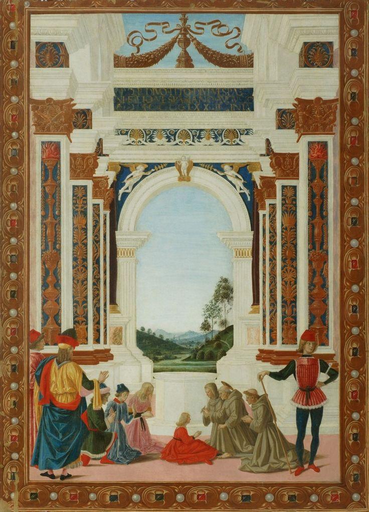 Saint Bernardin soigne d'un ulcère la fille de Giovanni Antonio Petrazio da Rieti, 1473
