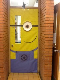 Minion classroom door | Bulletin and Door ideas | Pinterest