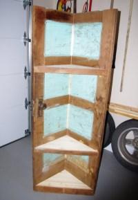 Corner cabinet - Use for an old door. | Decorating | Pinterest
