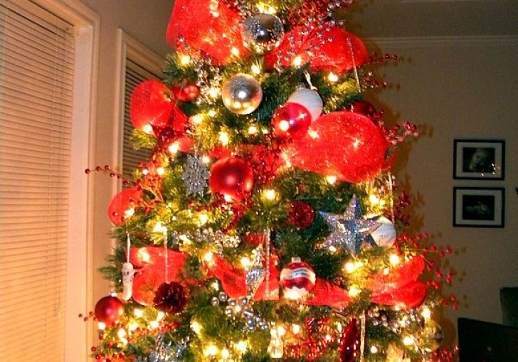 Decorating Tree With Mesh