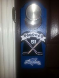 Hockey tournament hotel door hanger