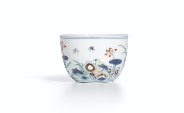 A rare doucai 'Lotus Pond'cup, Mark and period of Yongzheng