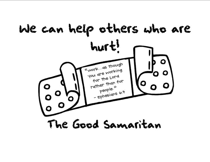 Labels for our Good Samaritan bags...we will decorate
