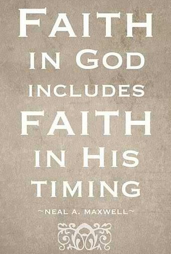 Faith in God's time