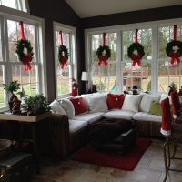 sunroom decorated for christmas. 2012 | Pinterest