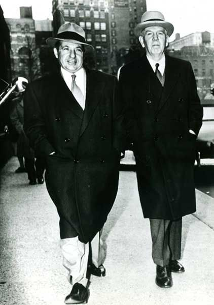 Frank Costello and attorney Kenneth M. Spence attending Federal Court
