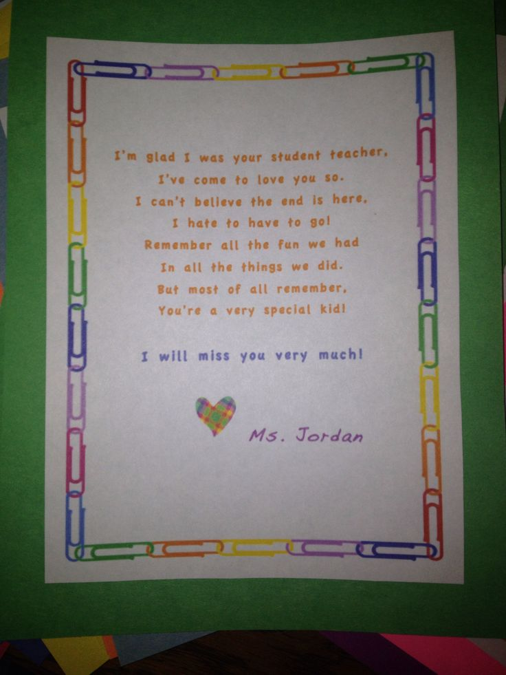 Goodbye letters to teachers from students thecheapjerseys