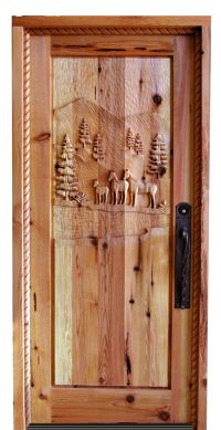 Wooden Doors: Hand Carved Wooden Doors Montana