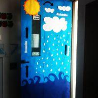 Water cycle door !   classroom decorations   Pinterest
