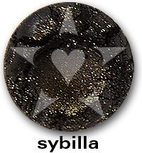 "Sybilla is a smooth, complex black frost with mauve undertones and brilliant golden sparks. From Aromaleigh Mineral Cosmetic's ""Bete Noire"" Mineral Eyeshadow Collection... http://www.aromaleigh.com/nebnomieyco.html"