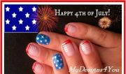 great 4th of july nail art design