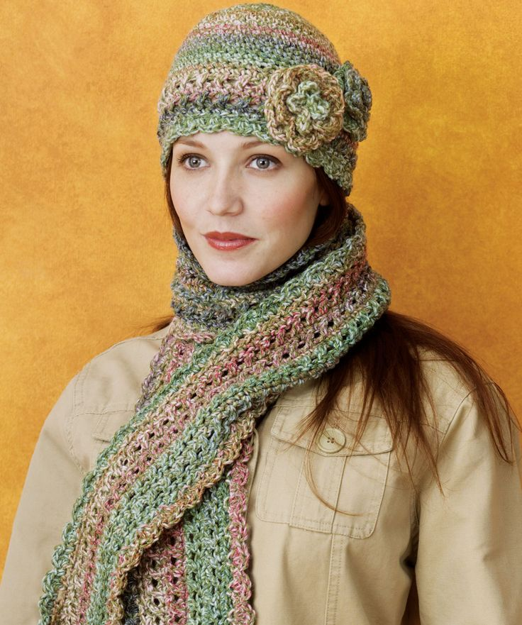Crocheted Cloche & Scarf Set
