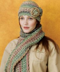 Crocheted Cloche & Scarf Set | Crochet scarves | Pinterest