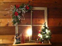 Old windows for Christmas | Christmas Ideas | Pinterest