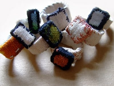 Fabric scrap ring tutorial