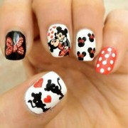 cute disney mickey mouse nails