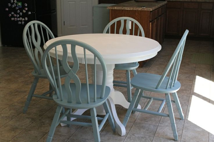 refinishing kitchen table with paint  DIY  Pinterest