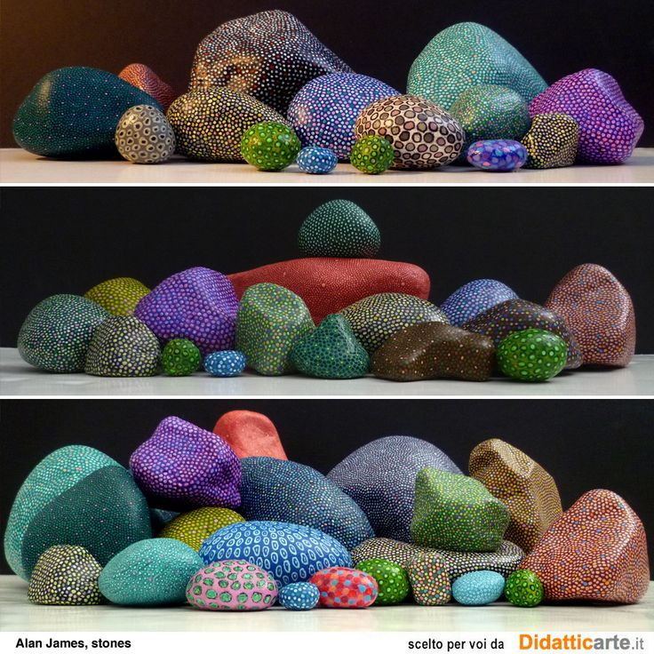 Pebble painting by Alan James