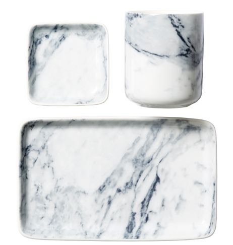 marble look plates from HM Home Autumn -14.