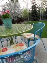 Painting wrought iron furniture   patio   Pinterest