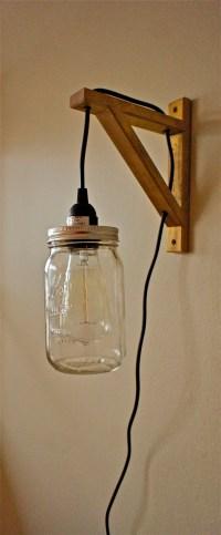 Hanging Mason Jar Sconce Light