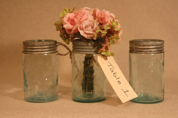 Vintage Canning Jars Wedding Decoration Ideas Pinterest
