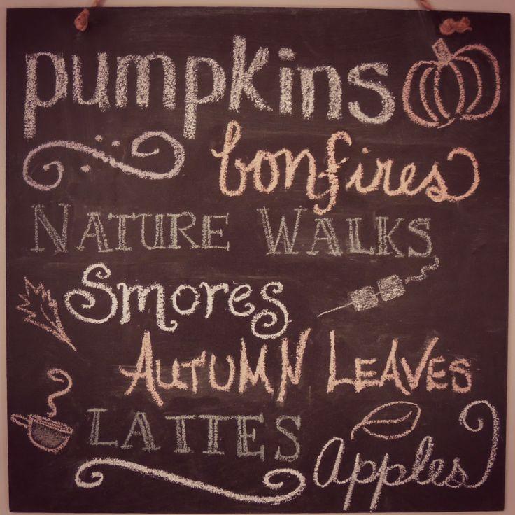 Autumn ~ Pumpkins, Bonfires, Nature Walks, Smores, Autumn Leaves, Lattes, Apples