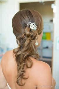 Wedding hair, side ponytail