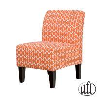 Orange accent chair | Livingroom | Pinterest
