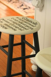 painting a recipe on a bar stool | Home sweet sweet home ...