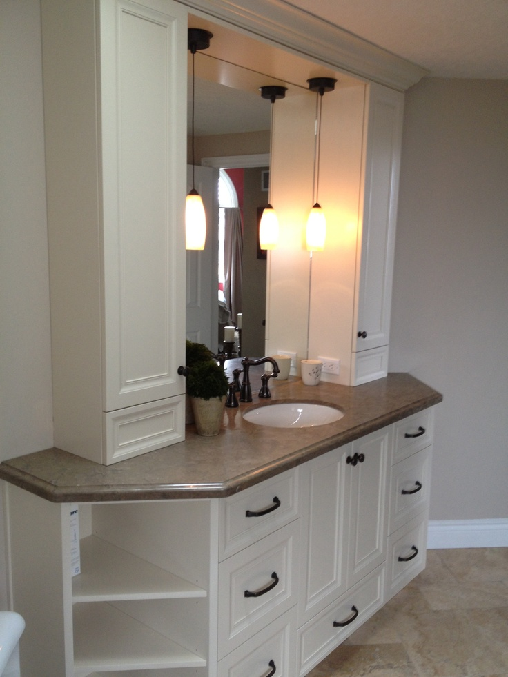 Bathroom vanity with towers  Bathroom  Pinterest