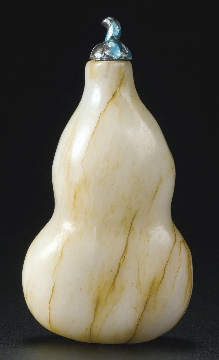 A 'CHICKEN BONE' JADE 'DOUBLE GOURD' SNUFF BOTTLE<br>QING DYNASTY, 18TH CENTURY | Lot | Sotheby's