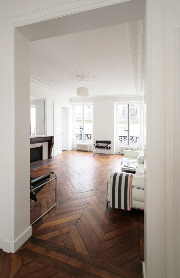 ♥ the herringbone floor