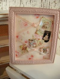 DOLLHOUSE shabby chic bulletin board