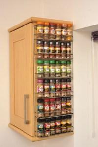 Spice rack, easy wall mount or cupboard fix