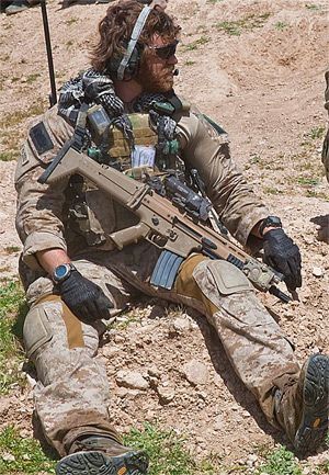 USAF CCT attached to an unknown Special Operations unit in Afghanistan, 2010 with war beard.