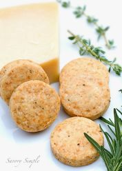 Parmesan, Rosemary and Thyme Shortbread
