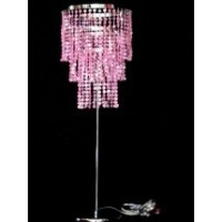Pink Beaded Table Chandelier Lamp | MISC. FAVES | Pinterest