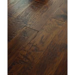 Shaw 3/8 in. x 6 3/8 in. Hand Scraped Old City Cisco Hickory Engineered Hardwood Flooring (25.40 sq. ft. / case)-DH77900899 at The Home Depo...