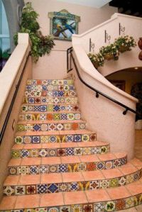 Mexican Tile Staircase | Mexican Decor | Pinterest