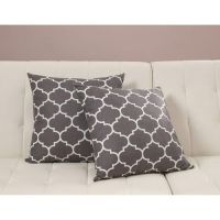 Dorel Home Products Accent Pillows, Set of 2, Gray Trellis