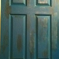 DIY antique painted door!   DIY & Craft ideas   Pinterest