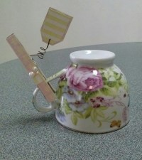 Shabby Chic Clothespin Placeholder | crafts | Pinterest
