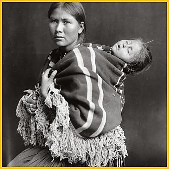 navajo babywearing