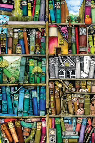 The library, a color space and imaginatioN / La biblioteca, un espacio de colores e imaginación (autor desconocido)